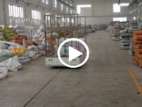 AGV working at factory warehouse