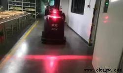 欧铠磁钉导航牵引叉车agv应用案例